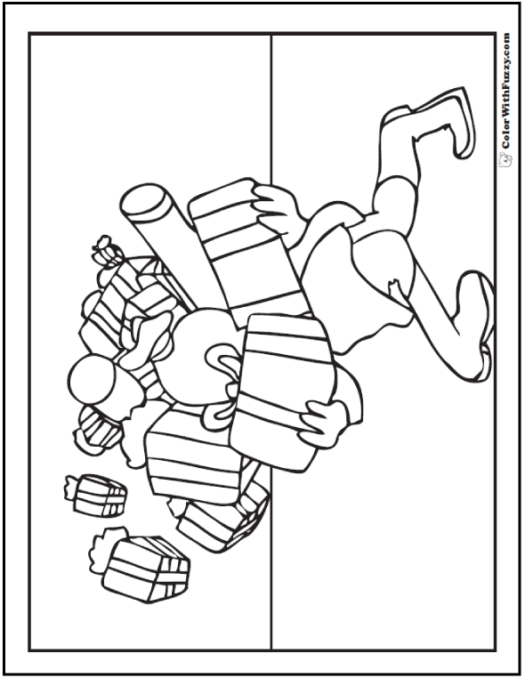 151+ Christmas Coloring Pictures