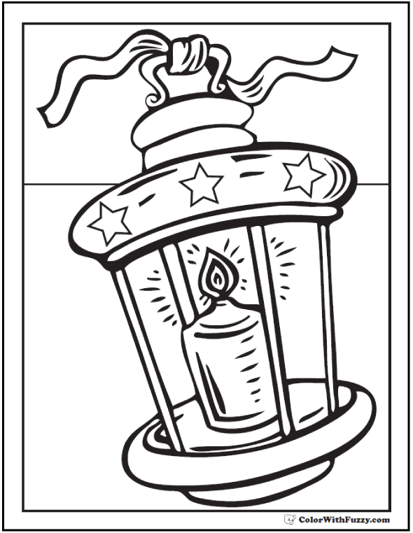 Christmas Lantern Coloring Page