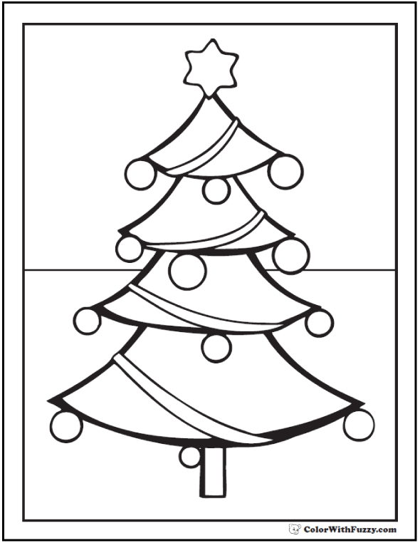 Christmas Tree Coloring Sheets