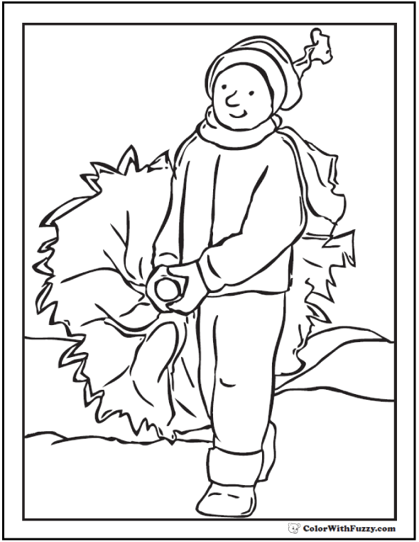 25+ Christmas Tree Coloring Pages Fun In The Snow!