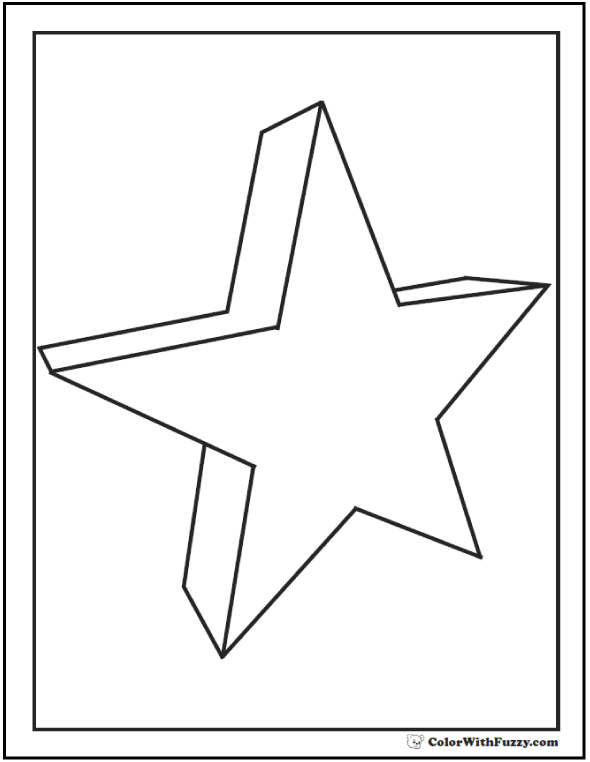 3D Coloring Pages Geometrics And Three D Shapes