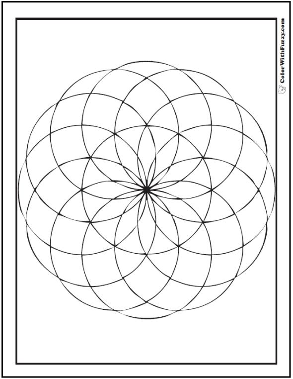 Coloring Pages: Geometric Venn Flower