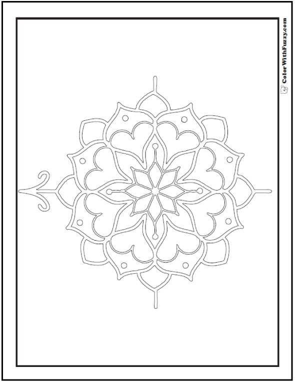 Fill In Compass Rose Sheet Coloring Pages