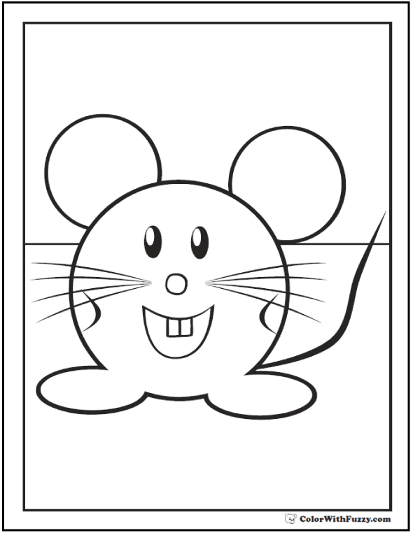 Cute Mice Coloring Pages