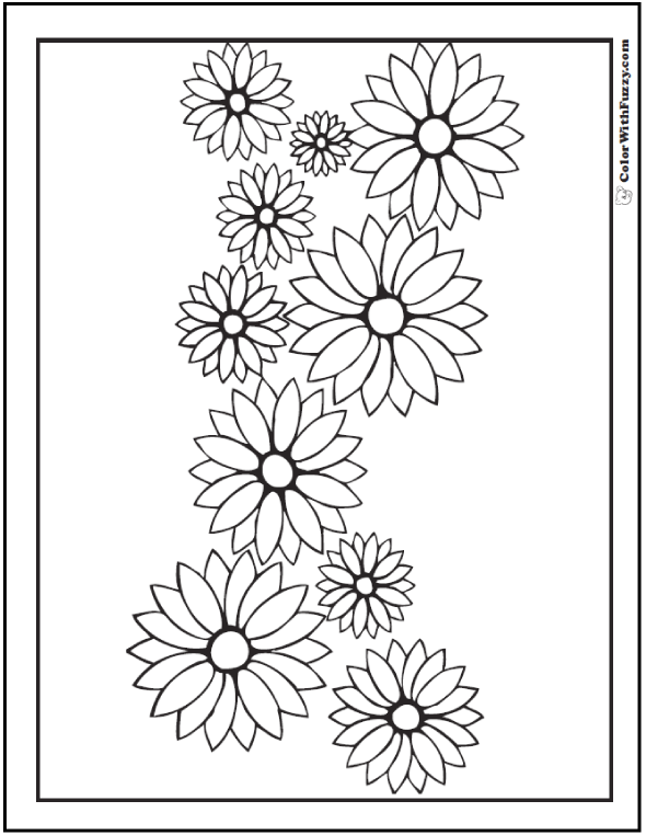 102 Flower Coloring Pages Customize And Print Ad Free Pdf