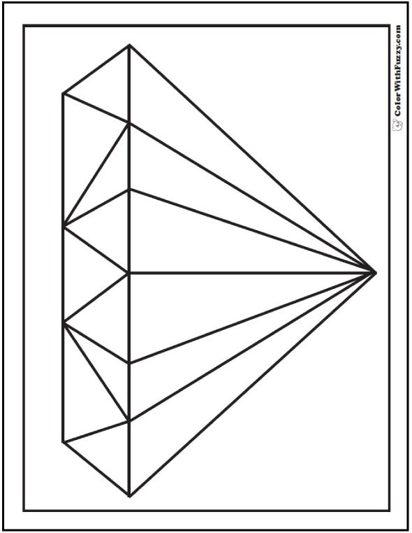Cut Out Diamond Shape Pattern Pictures to Pin on Pinterest