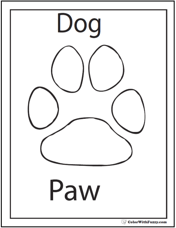 Bulldog Paw Print Coloring Page Coloring Pages
