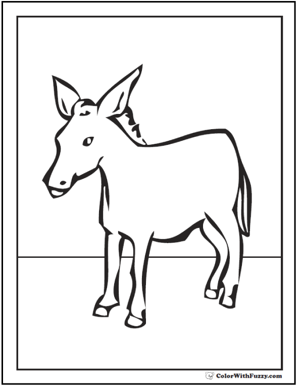 10+ Donkey Coloring Page: Customize Bible And Farm Themes