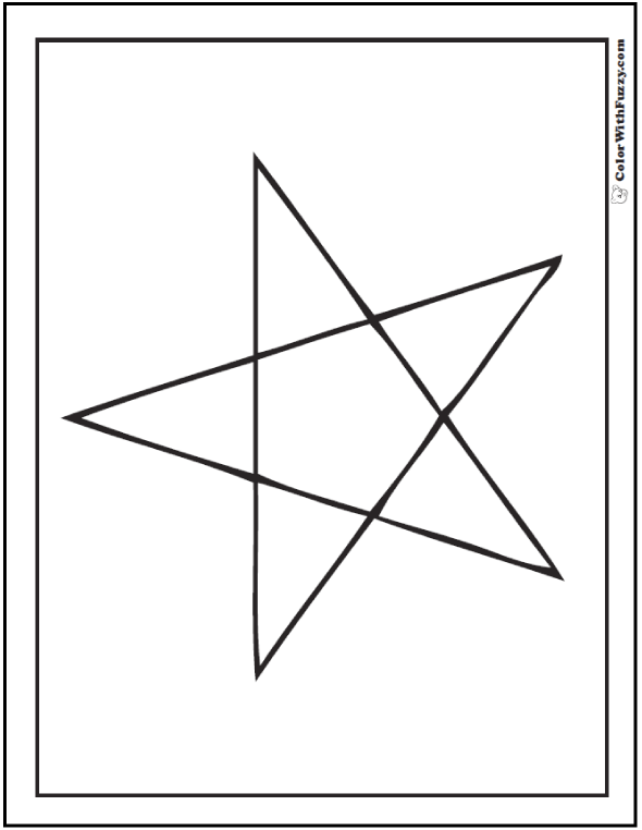 5 Point Star Template Printable Sketch Coloring Page
