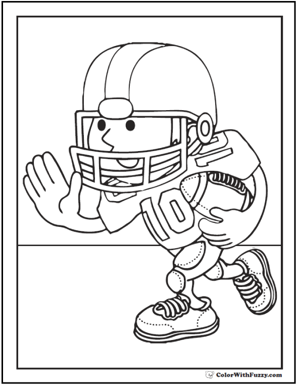 Football Coloring Pages: Customize And Print PDF