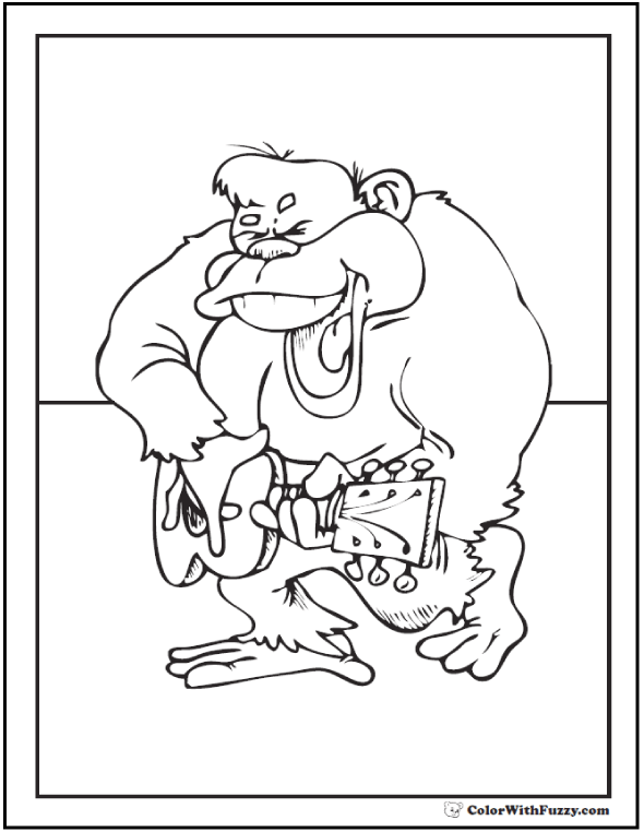 Gorilla Coloring Pages: Print And Customize