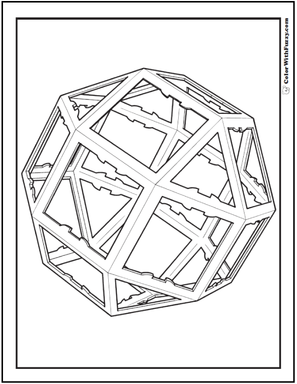 Geometric Coloring Designs: Geodesic Sphere