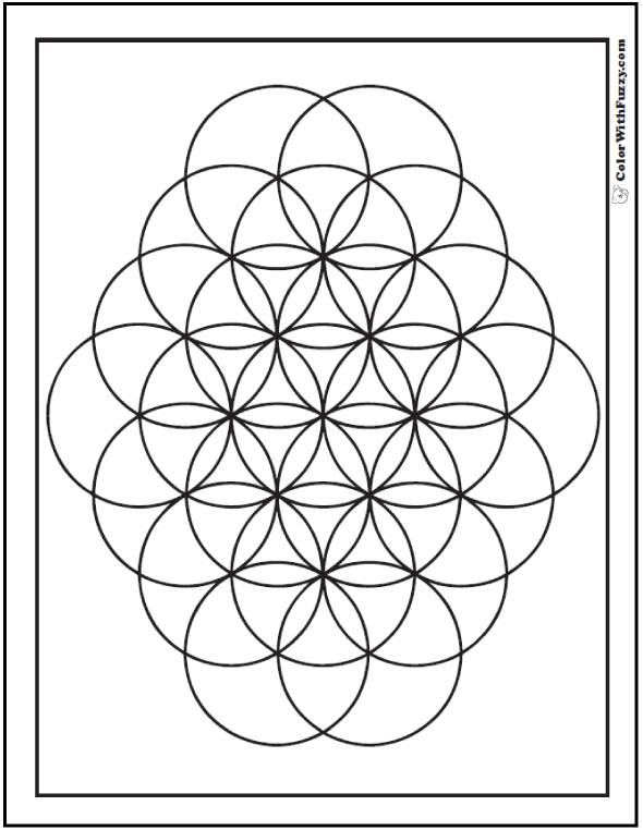 Geometric Pattern Coloring Page For Kids