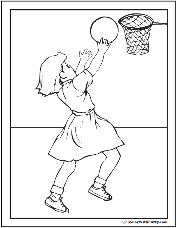 Basketball Coloring Pages: Customize And Print PDFs