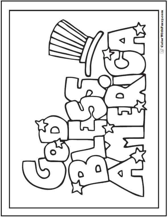 Fourth Of July Coloring Pages: Print And Customize