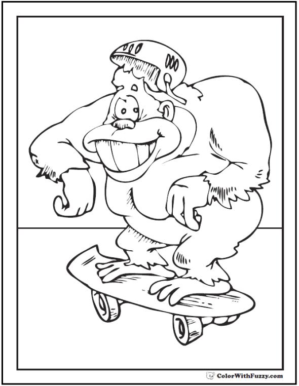 King Kong Gorilla Coloring Page