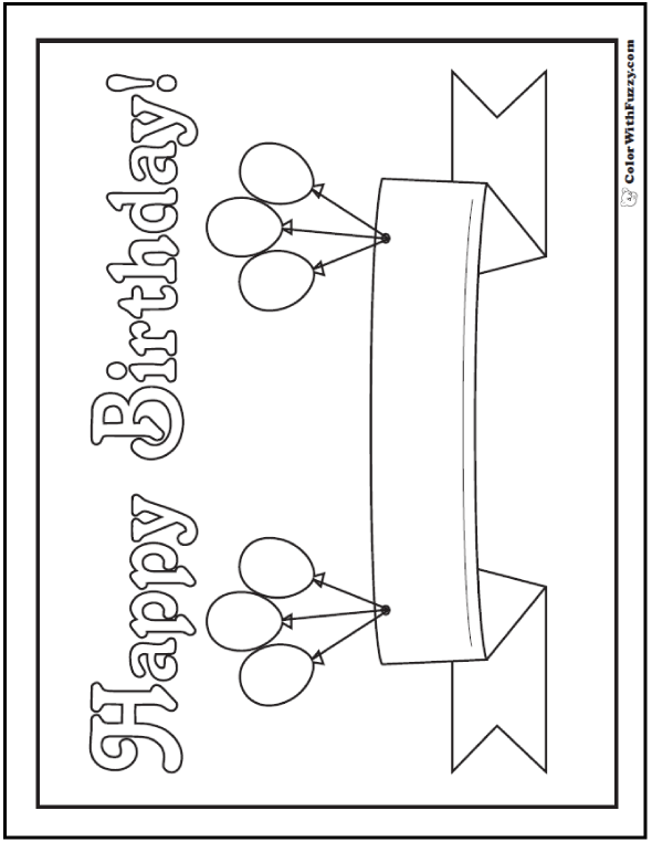 55+ Birthday Coloring Pages Printable And Digital Coloring