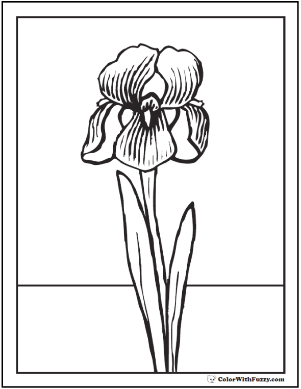 Spring Flowers Coloring Page 28 Spring Coloring Pages