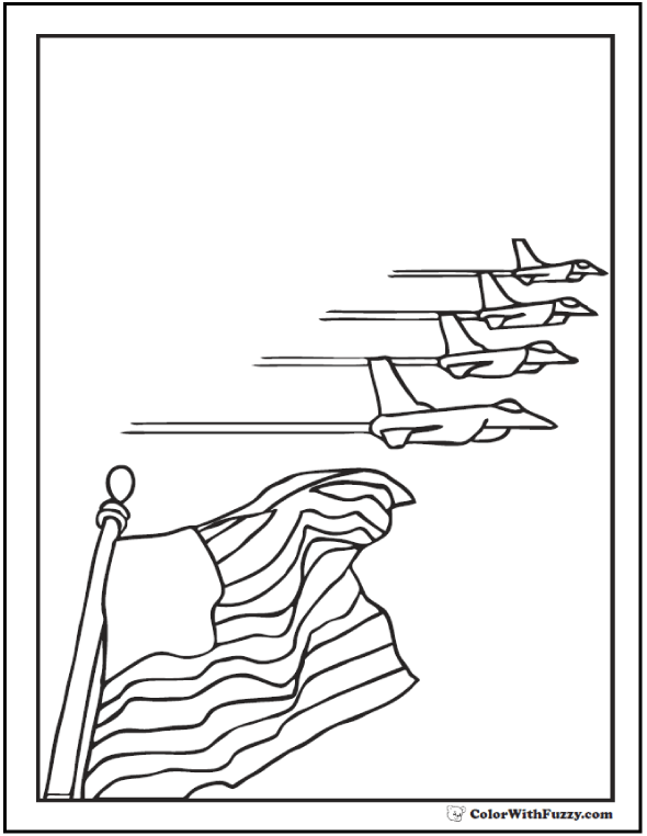 Fourth Of July Coloring Pages Patriotic Themes