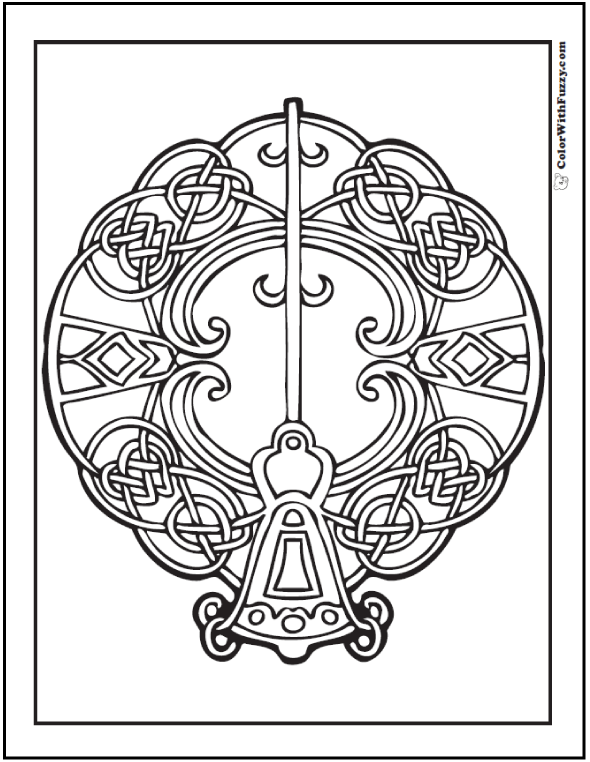 Scottish Coloring Pages Sketch Coloring Page