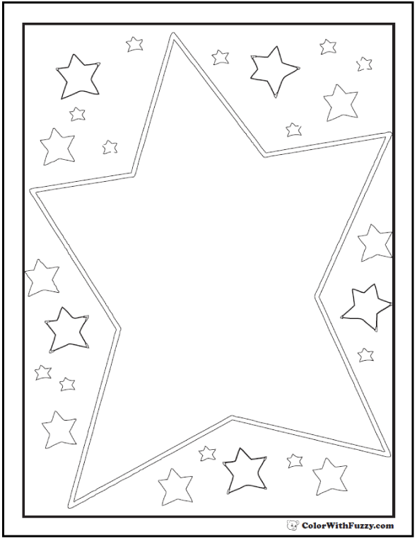 60 Star Coloring Pages Customize And Print PDF