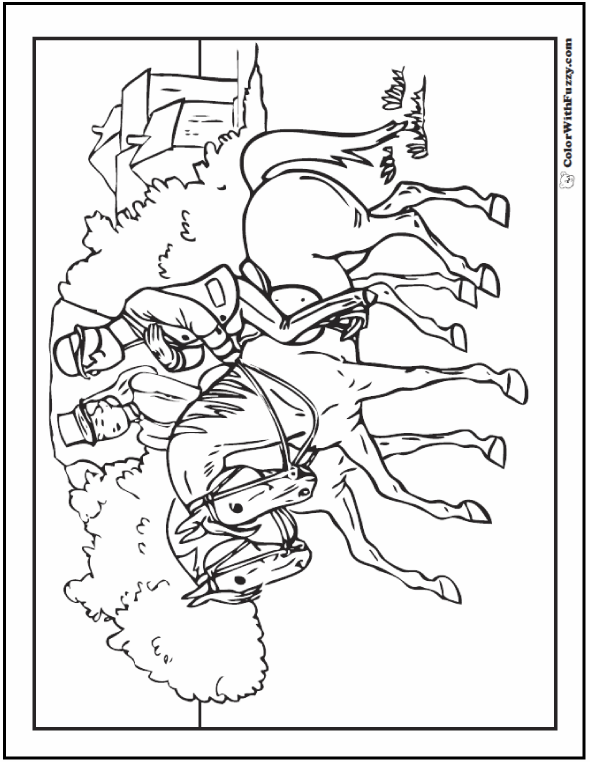 Clydesdale Horse Coloring Pages