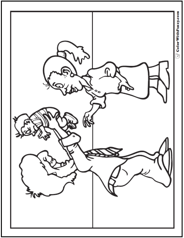 Mom And Baby Bear Coloring Page