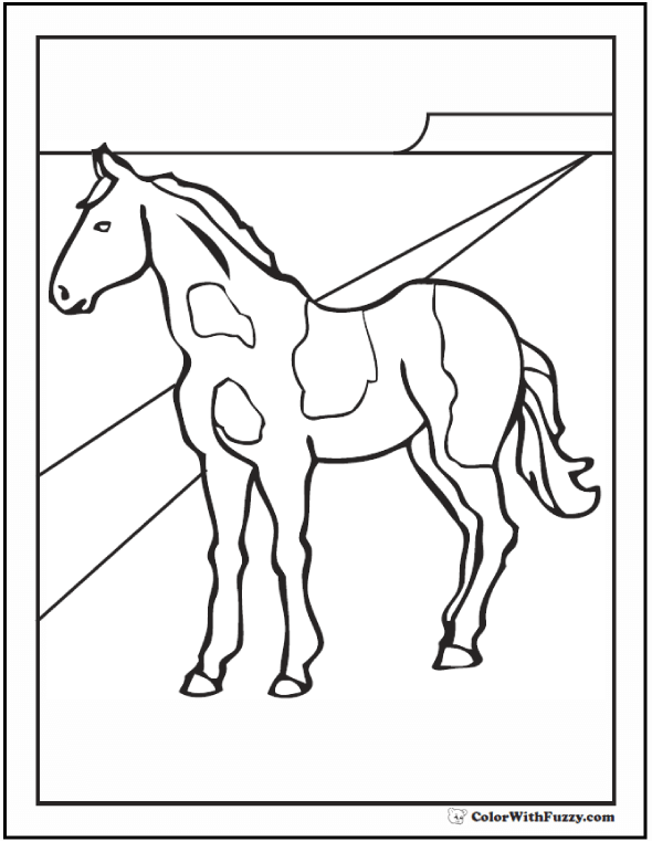 Paint Horse Coloring Page