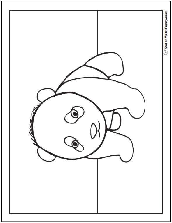 Panda Coloring Pages: Bamboo And Baby Pandas