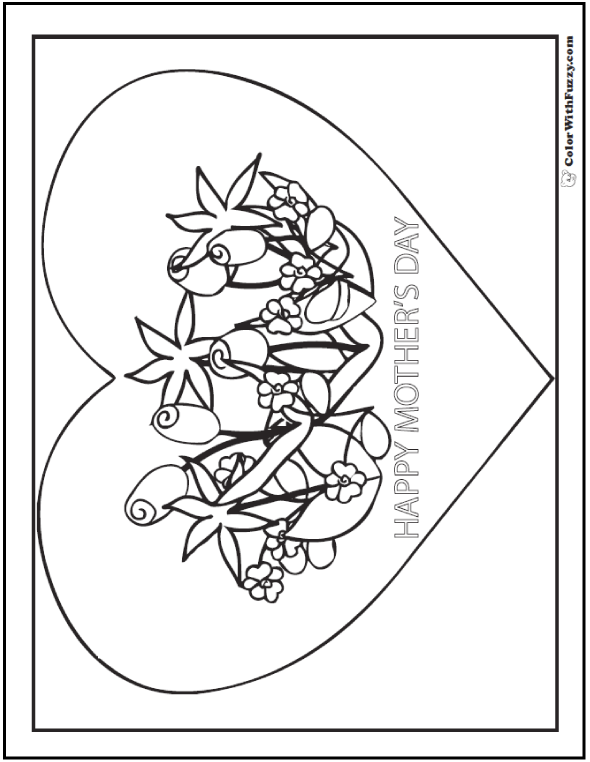 45+ Mothers Day Coloring Pages Print And Customize For Mom