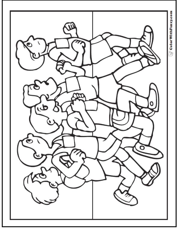 121 Sports Coloring Sheets Customize And Print Pdf Sketch