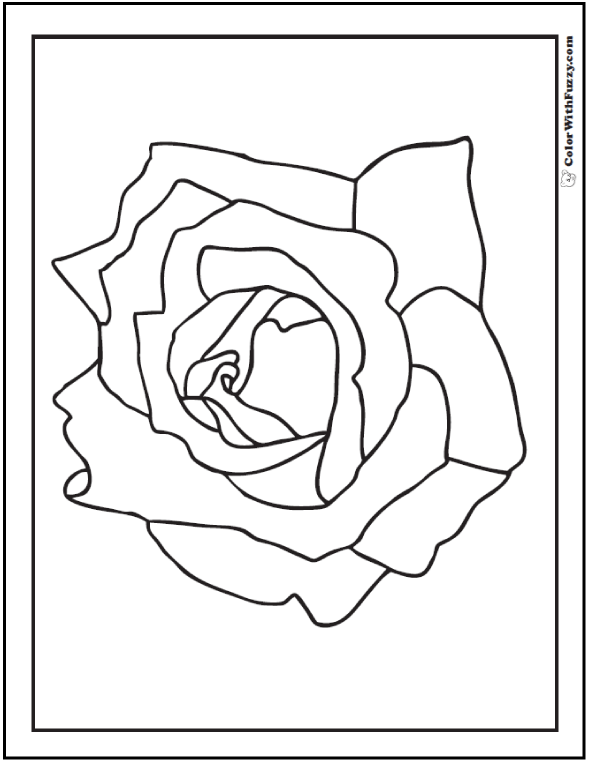 Simple Rose Coloring Page