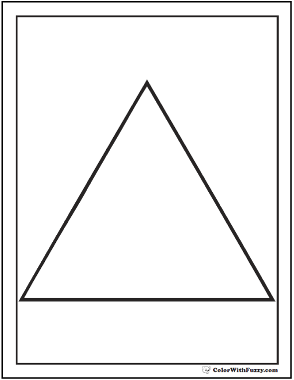 80+ Shape Coloring Pages Color Squares, Circles, Triangles