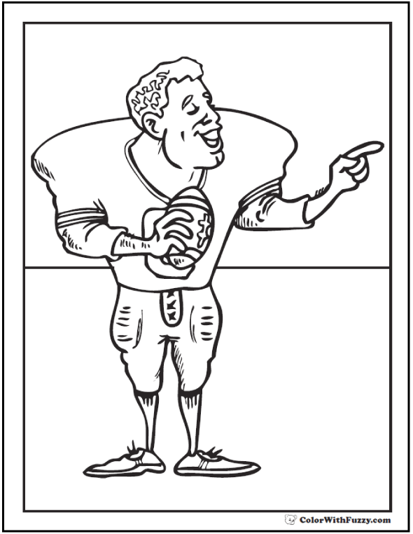 Football Coloring Pages Customize And Print PDF