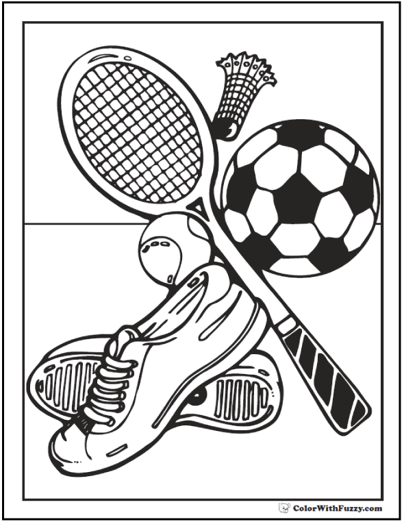 121+ Sports Coloring Sheets Customize And Print PDF