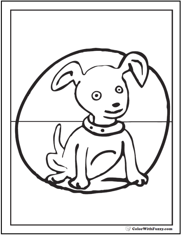 35+ Dog Coloring Pages: Breeds, Bones, And Dog Houses