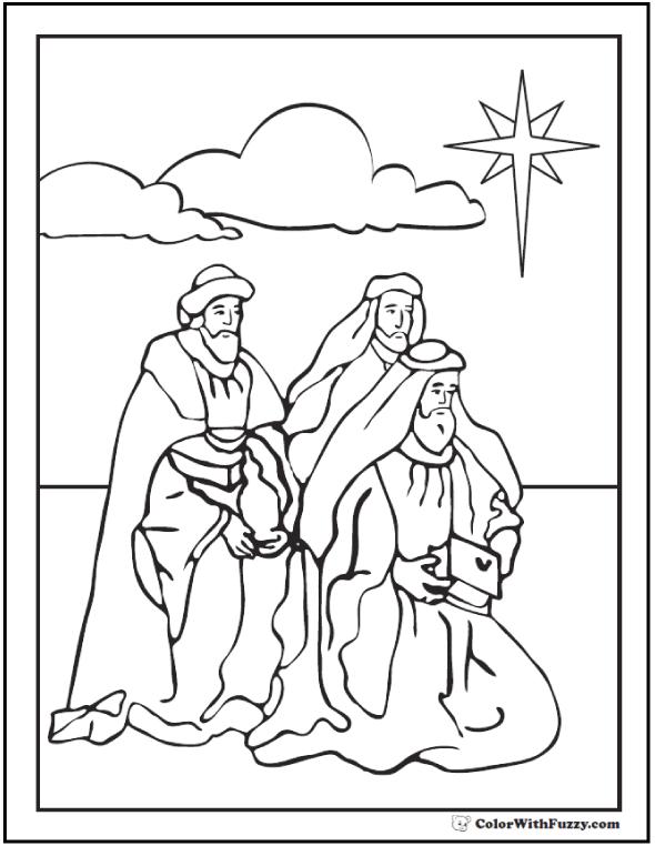 Wise Men Coloring Sheet