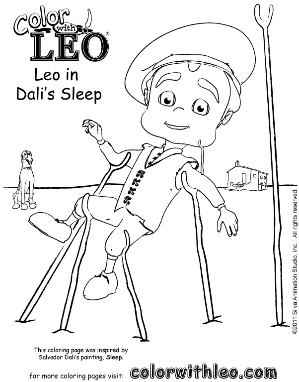 Art coloring pages to print of famous artists for kids.