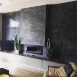 Decorative polished plaster wall in London