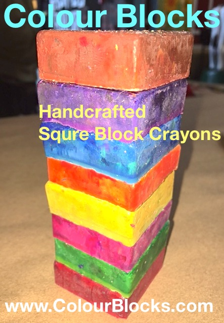 Handcrafted Square Block Toddler Crayons, Jumbo!, children's toys and gifts, color blocks
