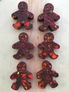 Kids Gingerbread Man Crayon Shape, handcrafted for kids, by spramani colour blocks