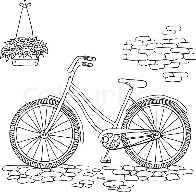 Illustration of Bicycle, Riding on the bicycle, vector