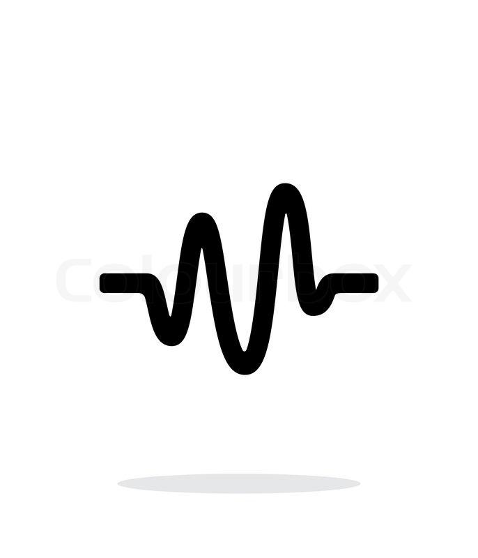 Sound wave icon on white background. Vector illustration