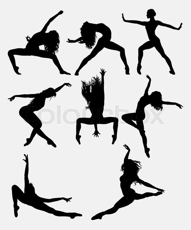 Beautiful Dancer Pose Performing Silhouette Male And
