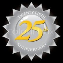Silver 25th Anniversary Seal