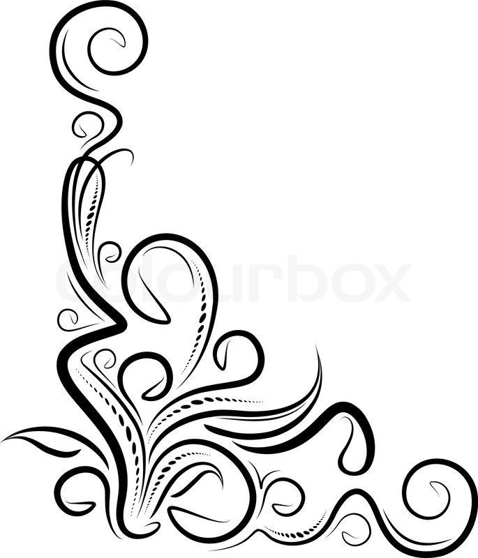 Ornamental Design Corners Set Stock Vector