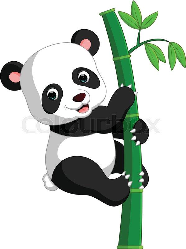 Cute panda cartoon  Stock Vector  Colourbox