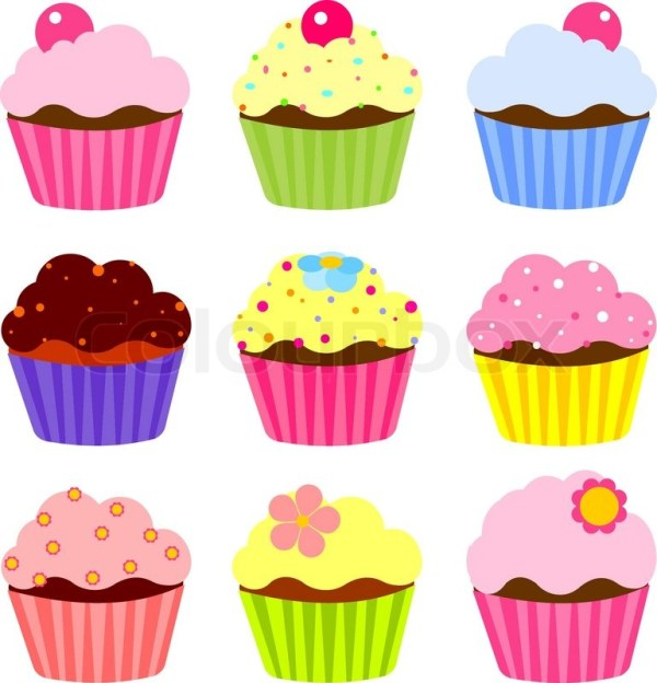 illustration of cute cupcakes
