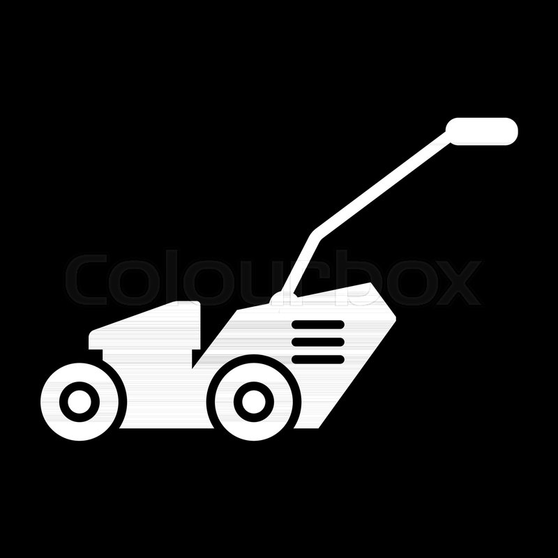 grass cutter solid icon