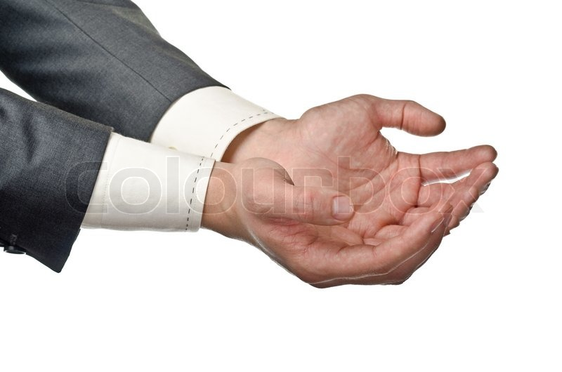 cupped hands stock image
